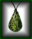 CARVED SERPENTINE PENDANT 27(25gr/5cm)