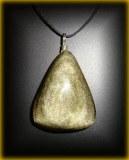GOLD CELESTIAN OBSIDIAN PENDANT 2(24gr/4cm)