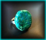 ADJUSTABLE CHRYSOCOLLA RING ( 10gr/adjustable )