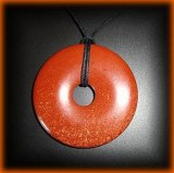 RED JASPER DONUTS PENDANT ( 30gr/5cm)