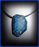 BLUE APATITE PENDANT 8 ( 30gr/3.5cm)