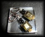 FACETED PYRITE EARRING 3( 10gr)