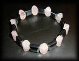PINK QUARTZ MAGNETIC BRACELET3(45gr/elastic)