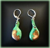NATIVE COPPER+CHRYSOCOLLA EARINGS(22gr)