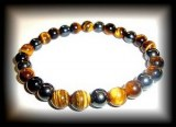 TIGER EYE MAGNETIQUE BRACELET2 ( 20 gr/elastic)