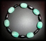 BRACELET AMAZONITE MAGNETIQUE, LE TOP!!!( 30gr/élastique)