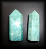 AMAZONITE POINTES X2( 35gr/4.8cm)