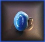 BAGUE AGATE BLEUE REGLABLE ( 8gr/réglable)