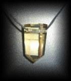 PENDENTIF CITRINE NATURELLE (RARE!!!)(22 gr/3.3 cm)