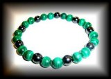 BRACELET MALACHITE MAGNETIQUE LE TOP!!!( 35gr/élastique)